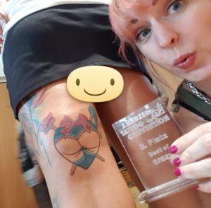 Custom Tattoos mit Auszeichnung. Hier auf der 2. Tattooconvention im Harz 2107.