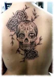 sugarskull tattoo Betty aus dem Nadelwald